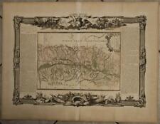 ALSACE FRANCE 1771 BRION DE LA TOUR & DESNOS ANTIQUE COPPER ENGRAVED  MAP