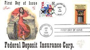 2071 20c Federal Deposit Insurance Corp. Pugh hand painted cachet [091521.312]