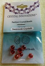 SWAROVSKI FACETED CRYSTAL BEADS ROUND 6 MM PADPARADSCHA 8 PIECES
