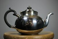 Vintage silver plated teapot Dowty Group hand engraved hinged lid by Cooper Bros