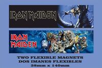 Iron Maiden 2 IMANES 2 MAGNETS The number of the Beast Fear of the Dark