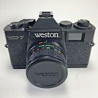 Vintage WESTON WX-7 35MM Film Toy Camera with Case, Manual, and Box
