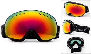 Snow Ski Goggles Snowboarding Double Lens Anti-Fog Mens Womens w/ Pouch Cloud 9