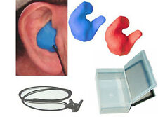 Custom Molded Ear Plugs BLUE/RED mix + case+ lanyard NEW MATERIAL !!