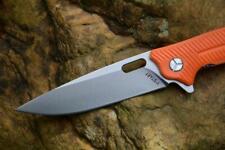 Y-START LK5013 Folding Knife Orange G10 Handle Plain 440C Edge