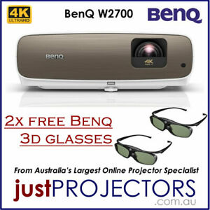BenQ W2700 Projector, 4K HDR. with 2x 3D GLASSES. From Just Projectors 2yr wrnty