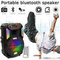 Portable Wireless BT Party Bluetooth Speaker Audio Stereo W/ Remote 1000 Watts