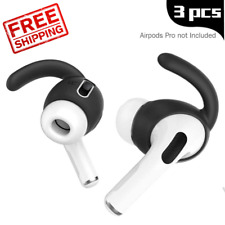 3 Pairs AirPods Pro Ear Hooks Anti Slip Soft Silicone Covers Apple Accessories