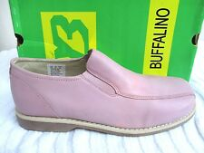 BUFFALINO..PINK..LEATHER..SLIP ON..LOAFERS..GAY INTEREST..MAN'S sz 10.5..NEW BOX