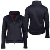 QHP Damen Sweatjacke Leslie, Damenjacke Reitjacke Jacke Fleecefutter schwarz neu