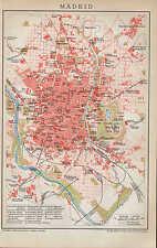 Landkarte city map 1894: Stadtplan MADRID. Spanien Hippodrom Casa del Campo