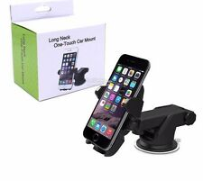 360 Rotate Long Neck One Touch Dashboard Windshield Car Mount Cell Phone Holder