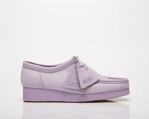 Clarks Originals Wallabee Women's Lilac Suede Low Casual Lifestyle Shoes Boots