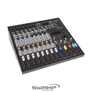 SWAMP S12-MK2 12 CH Mixing Desk - 6 Preamps - 2 AUX - Onboard FX - USB Audio
