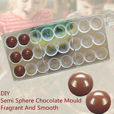 Semi Sphere Chocolate Mould PC Polycarbonate Mold Plastic Oven Baking Bakeware