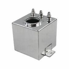 Silver 2L Raw Billet Aluminum Fuel Surge Tank AN6 044 Fuel Pump hot