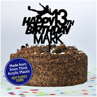 Football Birthday Cake Topper PERSONALISED ANY Age Name Football Topper Boys Son
