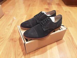 NEW Banana Republic True Navy Blue Suede Shoes Men's 8.5M