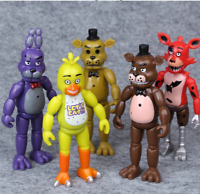 5.5''14cm 5pcs/lot Five Nights At Freddy's with Lighting PVC Action Figures Toys