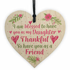 Daughter Gift Handmade Wooden Heart Sign Gift For Daughter Friendship Keepsake