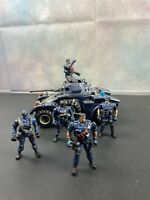 Chap Mei Soldier Force Armed  Car With Police  Action Figures Lot Of (5)