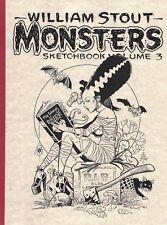 WILLIAM STOUT Monsters Sketchbook Volume 3 ART BOOK Ltd #d/950 SIGNED AUTOGRAPH
