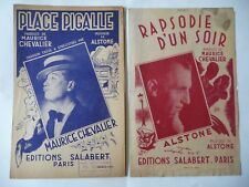 2 partitions Maurice Chevalier année 1945 lot 19