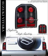 For 1988-1998 Suzuki Vitara Sidekick Tracker Black Altezza Tail Lights Lamps
