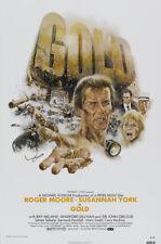 Gold Roger Moore Susannah York movie poster print 2