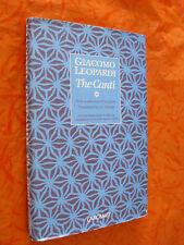 THE CANTI.GIACOMO LEOPARDI.CARCANET.I EDIZ. 1994