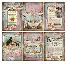 Paris Beauty Ads -  Card Toppers / Crafting Scrapbooking