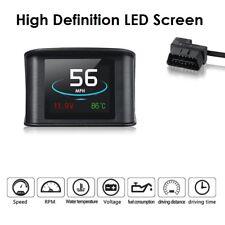 Premium Smart LED Digital Head Up Display OBD Port Car Speed Water Battery Meter