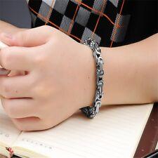 5MM Wide 316L Stainless Steel Bracelet Men Byzantine Box Link Chain Bracelets