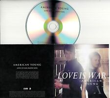 AMERICAN YOUNG Love Is War 2016 UK 1-trk promo test CD