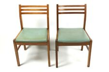 Pair of Retro Danish Style Teak Dining Chairs [ 5699A]