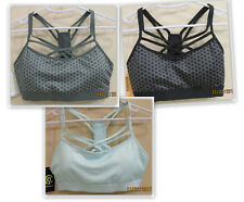Champion C9 Strappy Front Cami style athletic bra light pad - green, black, blue