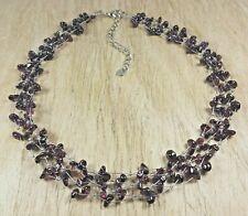 *Freedom Tree*  Garnet Gemstone Choker  Necklace Chakra /Healing Hand Made