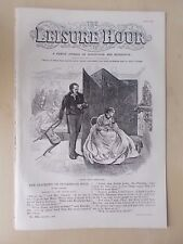 ANTIQUE VICTORIAN THE LEISURE HOUR MAGAZINE PAPER No 971 AUGUST 6th 1870