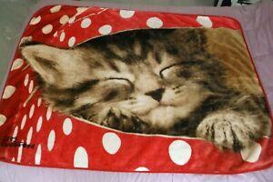 "Northwest Co. Plush Blanket 48x60 ""Kitten In A Polka Dot Box"" by Greg Cuddiford"