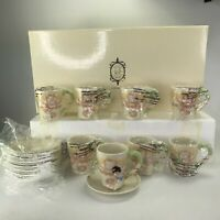 Lenox Disney The Snow White Teacup Set Saucers and Cups Dwarfs 16 Piece Set 2005