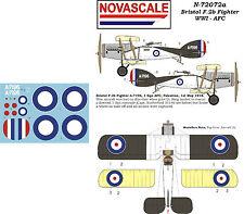 AFC Bristol F.2B WWI Mini-Set Decals 1/72 Scale N72072a