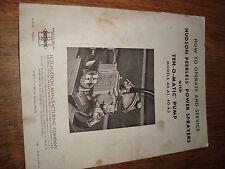 Hudson Peerless Power Sprayers With Ten O Matic Pump Models 40-A1 40-A3 Manual