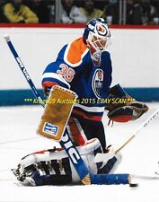 ANDY MOOG Makes BIG SAVE In NET 8x10 Photo EDMONTON OILERS Star GOALIE~@@