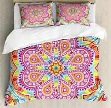 Rainbow Mandala Duvet Cover Set Twin Queen King Sizes with Pillow Shams