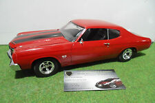 CHEVROLET CHEVY CHEVELLE SS 454 rouge 1970 Fast and Furious au 1/18 ERTL voiture