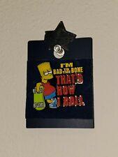 Universal Studios Bart Simpson Collectible Pin Skateboard Bad to the Bone NEW