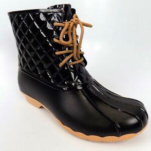 Rain Lace Up Women Boots  Two Tone Combat Style Size 6.5-7 EU 37 AL6782