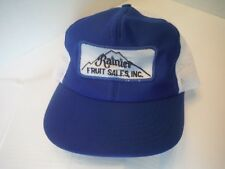 Vintage Rainier Fruit Sales, Inc Blue & White Trucker Cap Hat - Patch