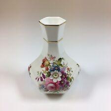 Vintage Hammersley Porcelain Vase With Flower Sprays 11cm In Height