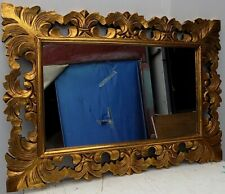 Mirror Baroque Wooden Inlaid CMS 100x70 Gold Antiqued Classic